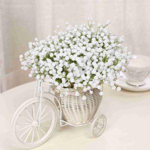 Engren Babys andning Konstgjorda blommor falska blommor för hem bröllop dekoration skytte rekvisita