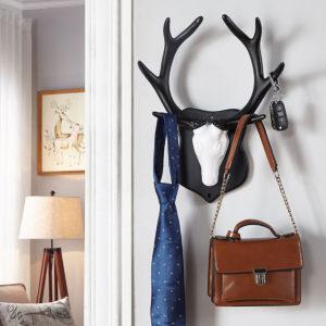 2 typer Vintage hjortar Hök Rack Hem Dekorativ Wall Hat Coat Hanging Cloth Hanger
