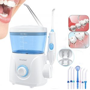 600ML Electric Teeth Cleaner Dental Flosser Washer Jet Tip Household 10 Setting Water Folsser