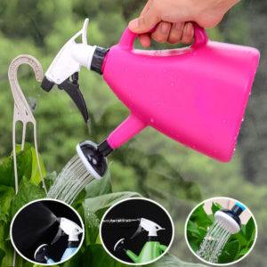 1200ml Dual Use Hand Pressure Watering Can Gardening Adjustable Handheld Sprinkling Can
