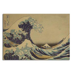 Kanagawa Surfing Poster Sketch Poster Kraft Paper Wall Poster 21 inch X 14 inch