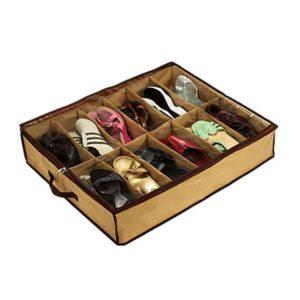 12 Pairs Shoes Storage Box Under Bed Closet Storage Baskets