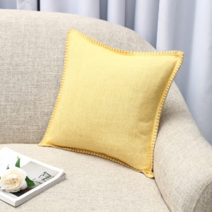 45x45cm Flax Throw Pillow Case Cushion Cover Seat Sofa Case Home Bedroom Decoration
