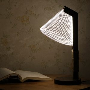 KCASA Creative 3D Night Light LED Wood Art Acrylic Table Lamp Bedroom Home Decoration