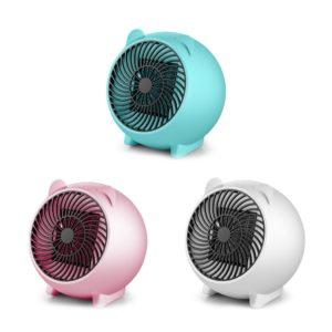 Loskii Mini värmare Söt tecknad värmare Hushåll Desktop Intelligent värmare