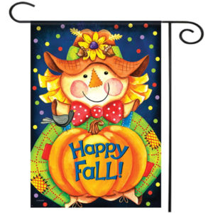 """28""""x40"""" Happy Smile Fall Scarecrow Welcome House Garden Flag Yard Banner Decorations"""