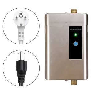 4000W 110V/220V Stainless Steel Mini Electric Tankless Instant Hot Water Heater