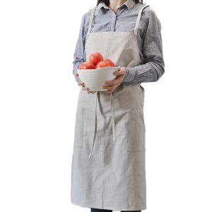 Bomullförkläden Köksbakningskläder Ren varm färg Enkel vanlig stilförkläde