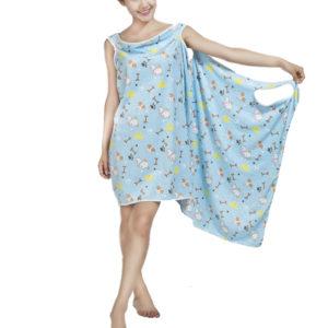 Honana BX-397 Women's Bath Shower Towel Spa Bathrobe Magic Super Absorbent Bath Shower Towl