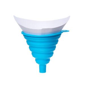 151st Nylonmask Engångs-färgpappersfiltreringar Rening silningskopp med 1 st silikonfilter