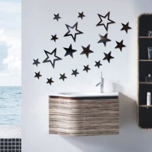 3D-stjärna flerfärgad DIY Shape Mirror Wall Stickers Home Wall Bedroom Office Decor