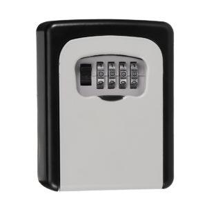 KCASA LK-10 4 Digit Combination Lock Box Key Storage Lock Box Wall Mounted Security Safe Box