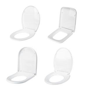 4 typ vit täcka framsidan toalettstolslockar lock mjuk öppen stäng lätt rengör Higer förtjockad universalt fallande toalettskydd