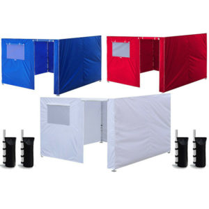 10 x 10'' Enclosure Zipper Side Walls Kit Panels For EZ Up Canopy Gazebo Tent
