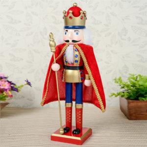 38cm Nötknäppare Puppet Juldekorationer Skrivbordsdekorationer Tecknade teckningar Valnötter Soldater Band Dockor Nötknäppare Miniatyrer