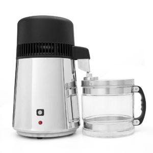 750W 4L Stainless Steel Pure Water Distiller Purifier Kitchen Filter Machine Free Glass Jar Bottle