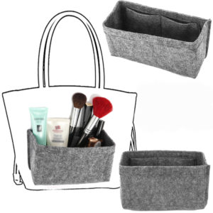 18x8x13cm Grey Felt Fabric Multi Pockets Handbag Organizer Storage Bag Hot