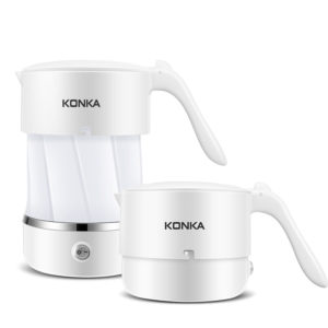 KONKA Portable Collapsible Electric Kettle Folding Kettle Used Globally Dual Voltage Folding Kettle