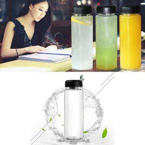 500 ml bärbar klar vattenflaska sportcykel plast frukt citron juice vatten cup