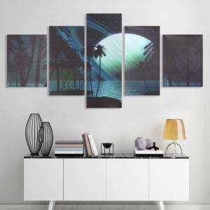 5pcs Modern Art Landscape Paintings Canvas Print Wall Art Picture Home Decor