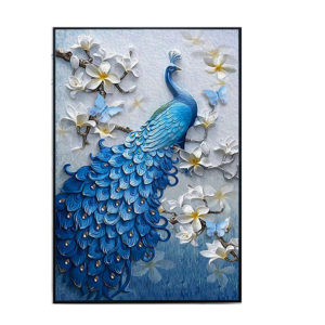 "5D Peacock Diamond Paintings Embroidery Cross Stitch Home Craft Decor 23.6""x15.7"""