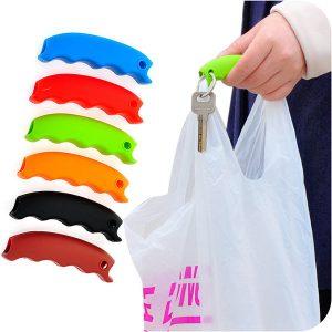 Honana HN-0623 7 Colors Soft Shopping Bag Clip Comfortable Carry Handle Tools Key Chain