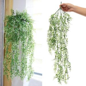 84cm konstgjorda blad vinstockar grönblad rotting murgröna ornament för bröllopsfest dekorationer