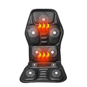 Uppvärmd rygg Elektrisk massagestol Sits Bil Hemmakontor Sittmassager Värme Vibrerande Kudde Rygg nackmassagestol Massageavkoppling