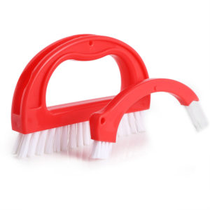 Cleaner Brush Tile Joint Cleaning Scrubber Brush with Nylon Bristles Set for Shower Floors Kitchen and Other Household