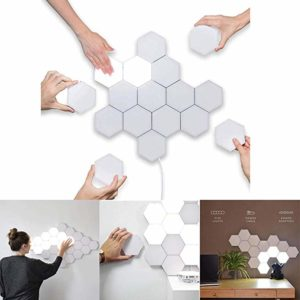 LED Quantum Hexagonal Wall Lamp Modular Touch Sensor Ljusarmatur Vardagsrum Dekorativt smart ljus