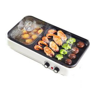 Electric Baking Pan Barbecue Hot Pot Non Stick BBQ Grill Oven Kitchen Cookware
