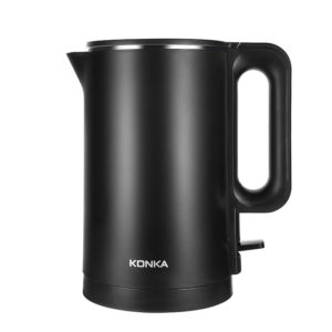 KONKA KEK-KM18 1.7L / 1500W Dubbel Anti Hot Elektrisk vattenkokare 304 rostfritt stål 6min snabbkokning