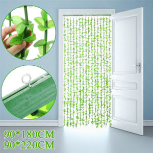 90*180CM/90*220CM 16 Lines Fly Screen Green Leaf Bamboo Leaves Curtain Living Room Partition Curtains