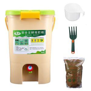 21L Köksmatavfall Återvinningskomposterer Kolsyrat avfallsbehållare Bokashi-skopa