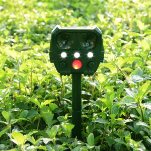 KCASA 529 Solar Energy Animal Repeller Ultrasonic Animal Repeller USB Charging Garden Cat Dog Repeller