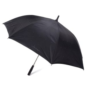 23-tums LED-ljus Långhanterat ficklampa-paraply Stars-paraply