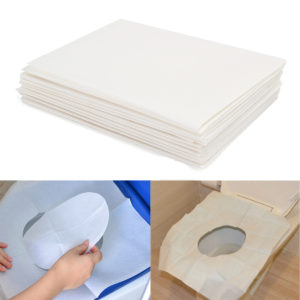 10pcs Toilet Seat Covers Paper Travel Biodegradable Disposable Sanitary