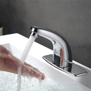 Automatisk kran handfri infraröd sensor kran kök badrum krom handfat diskblandare kran