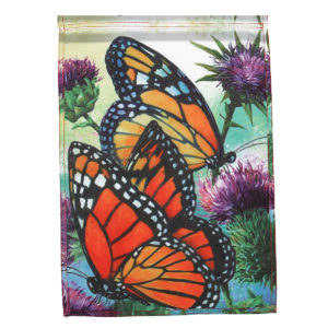 """12"""" x 18'' Mini Garden Double Sided Flower Butterfly Flag House Yard Banner Decorations"""