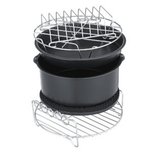 "7"" 6Pcs Set Healthy Air Fryer Accessories Cake Pizza Barbecue Baking Rack Pot Holder Baking Cooling Rack"