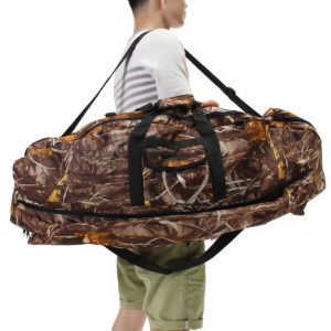"45.3"" Protable Compound Bow Bag Camo Camouflage Storage Arrow Hunting Holder Storage Net"
