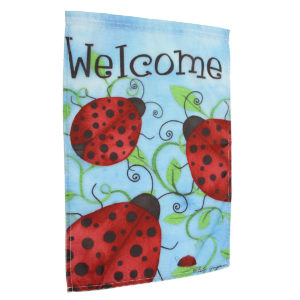 """12""""x18'' Ladybirds Welcome Garden Flags Yard Banner Holiday House Decorations"""