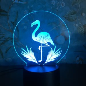 3D Night Light Touch Färgglad Flamingo LED Bordslampa Födelsedagspresent
