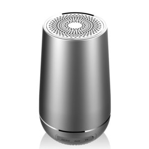 FUGN Wireless Mini Bluetooth Speaker Portable Loudspeaker with LED Metal Outdoor Column Stereo 3D Bass TF AUX Slot Support