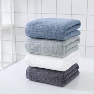 Bath Towel Face Towel Bath Sheets 100% Cotton Material Soft and Comfortable 70X140CM Four Colors