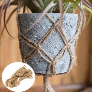 40 Inch Flower Pot Plant Hanger Macrame Jute Rope Indoor Outdooors Decorative Cord