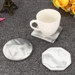 3 mönster set marmor antislip keramisk coaster kaffekopp matta bord Pads Decor