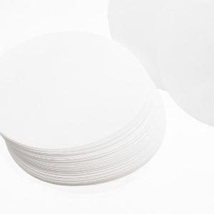 100 Stk / Set 7/9/11/15 / 18cm Kvalitativt filterpapper Cirkulär trattfilterark Medium hastighet 15-20um