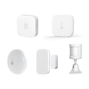 Original Aqara Full-Enjoy Smart WIFI trådlös sensorsatser Temperatur Fuktighetsmonitor PIR Dörrfönstergivare Vibrationssensor Vattennivådetektor