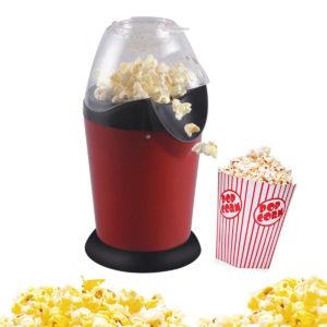 Mini Hushållsfrisk varmluft Oljefri Round Popcorn Maker Hemkök Elektrisk maskin